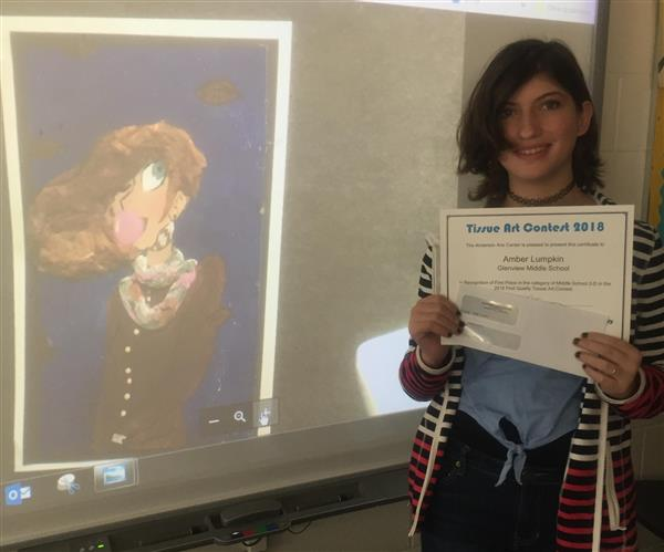 Congratulations to Amber Lumpkin - 1st place for 2D Middle School Art!
