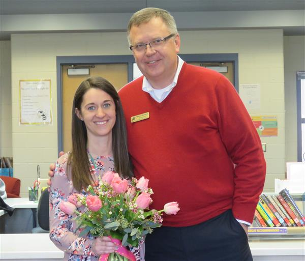 Employees of the Year!  Congratulations to Kimberly Barnes - Glenview Teacher of the Year.  Click for other employees of the year.