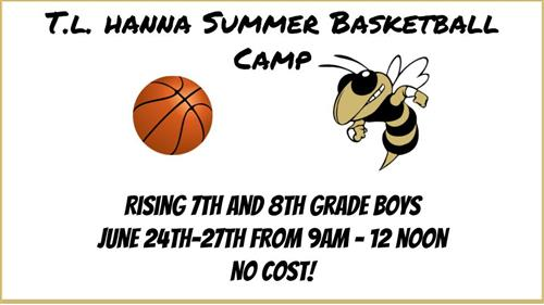Click to sign up for T.L. Hanna Basketball Camp