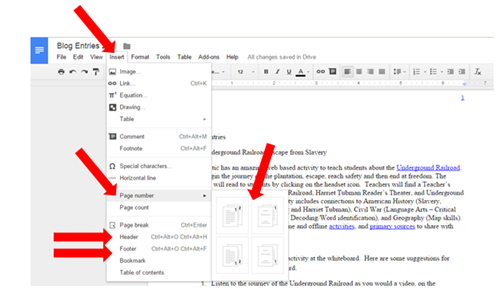 Headers Footers And Page Numbers In Google Docs