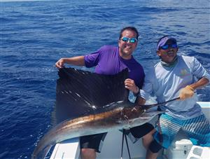 Blackwood with his Sailfish